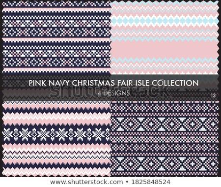 set of 4 seamless patterns stock photo © pakete