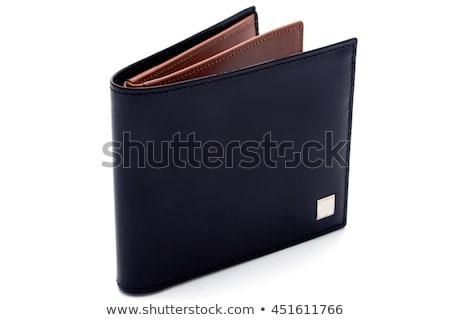 Fekete pénztárca izolált fehér üzlet pénz Stock fotó © shutswis