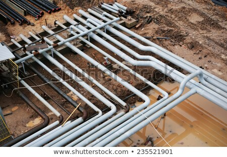 steel pipes on a newly industrial enterprises Stock photo © ultrapro
