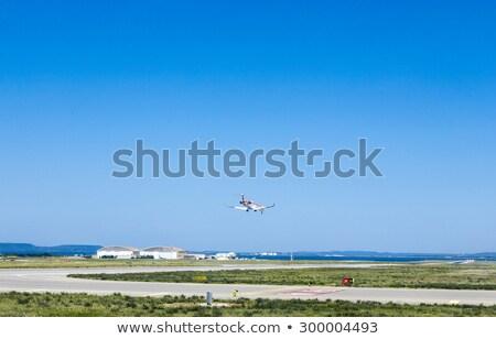 Foto stock: Aeronave · aterrissagem · Marselha · aeroporto