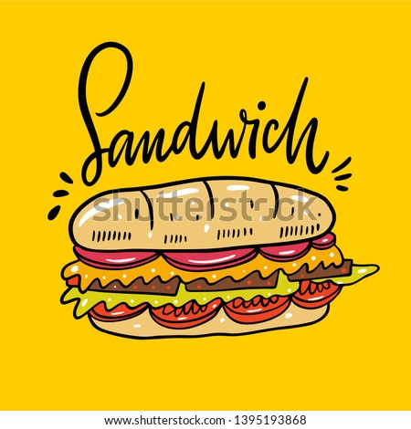 Cheese and ham sub sandwiches Stock photo © Digifoodstock
