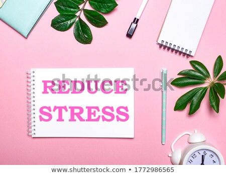 Clock and word Reduce Stress Stock photo © fuzzbones0