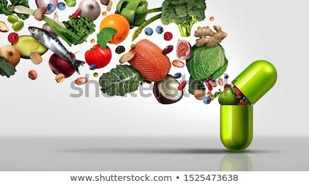 vitamines · Homme · main · santé - photo stock © idesign