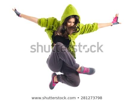 Hip hop ballerino isolato bianco giovane Foto d'archivio © artfotodima