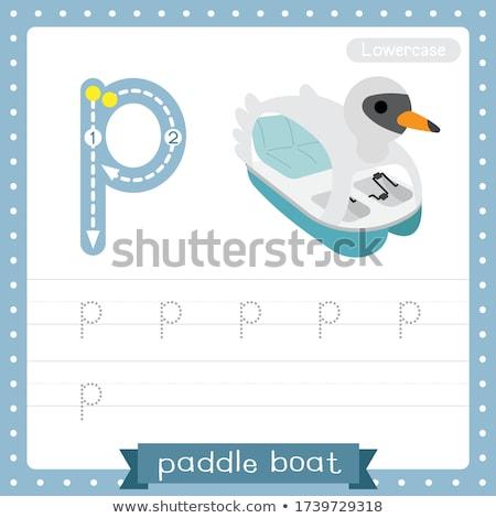 alfabeto · menina · crianças · estudante · arte - foto stock © bluering