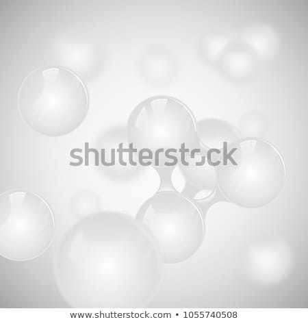 Abstract grey DNA round molecular structure background Stock photo © saicle