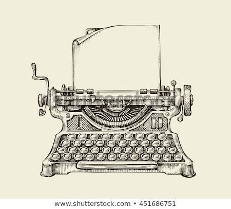 Klasszikus írógép izolált fehér Stock fotó © milisavboskovic
