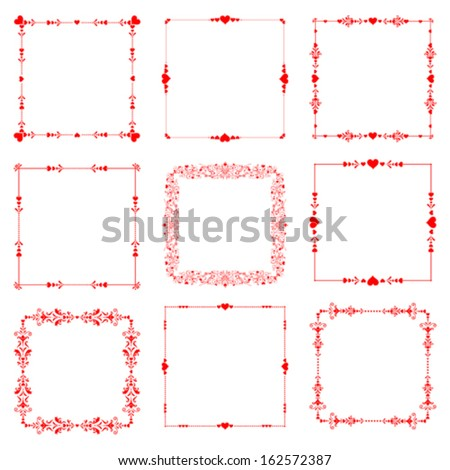 frame with hearts for your creativity stock photo © Phantom1311