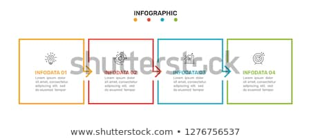 square options infographic design with four steps Stock photo © SArts