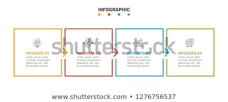 Vierkante opties ontwerp vier stappen Stockfoto © SArts