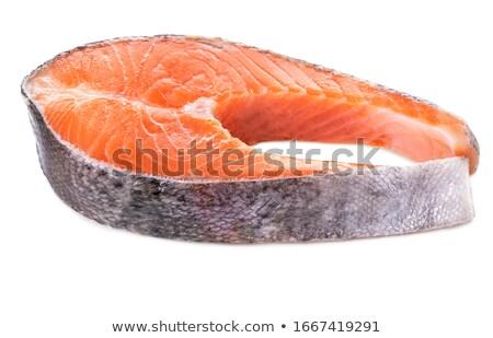 Deux fraîches saumon sel épices alimentaire Photo stock © Digifoodstock