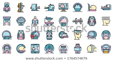 ultrageluid · diagnostisch · machine · icon · cirkel · stencil - stockfoto © angelp