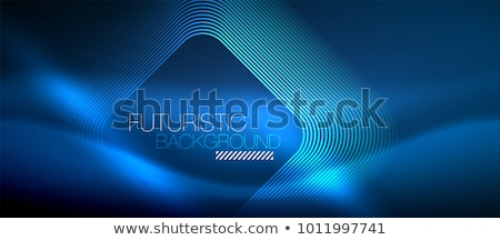 Luminoso blu abstract tech piazze modello Foto d'archivio © saicle