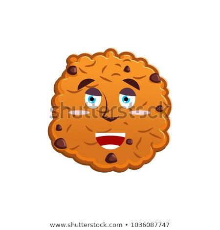 Cookie szczęśliwy suchar emocji wesoły żywności Zdjęcia stock © popaukropa