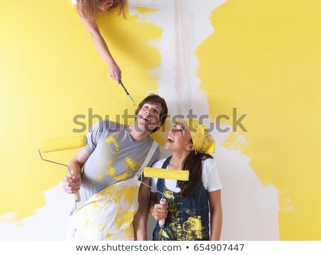 Couple messing around with paint. Stock photo © IS2