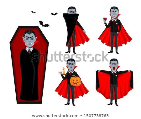 vampiro · arte · boca · lábios · preto · gótico - foto stock © julientromeur