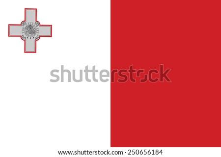 Malta · bandera · diseno · signo · pelota · rojo - foto stock © butenkow