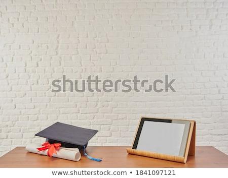 Certificaat prestatie muur business onderwijs groene Stockfoto © tashatuvango