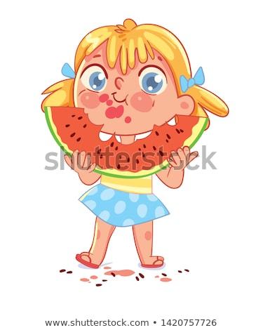 nagy · lédús · görögdinnye · fekete · étel · gyümölcs - stock fotó © rastudio
