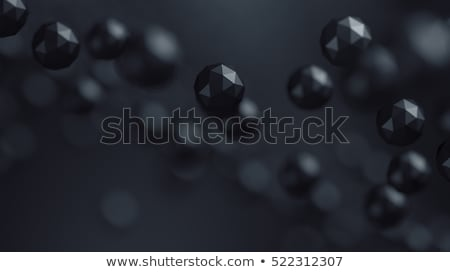 Macro particelle nero abstract 3D Foto d'archivio © SmirkDingo