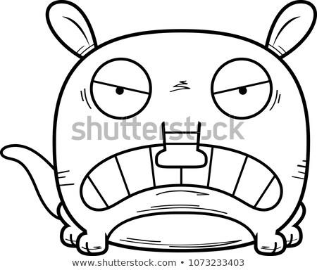 Cartoon Angry Aardvark Stock photo © cthoman