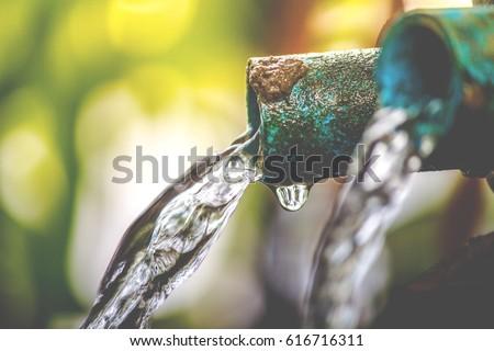 清浄水 パイプ かんがい 飲料 ポップアート レトロな ストックフォト © studiostoks
