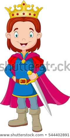 Cute chłopca kostium króla stwarzające Zdjęcia stock © acidgrey