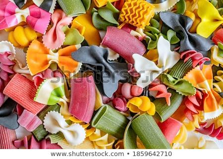 színes · olasz · tészta · étel · menü · kávézó - stock fotó © Melnyk
