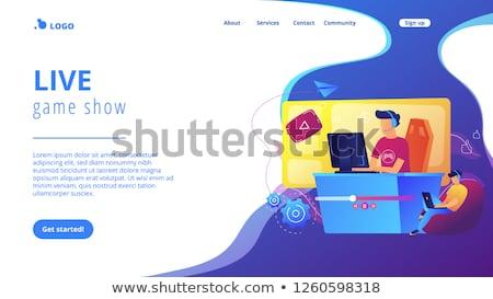 Gry streaming lądowanie strona żyć online Zdjęcia stock © RAStudio