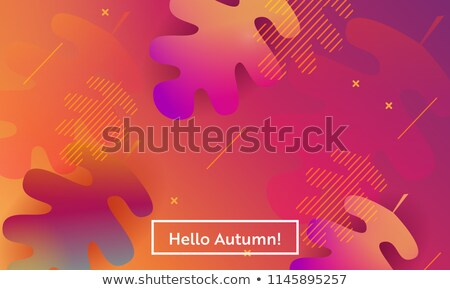 Ciao autunno illustrazione natura foglia sfondo Foto d'archivio © colematt
