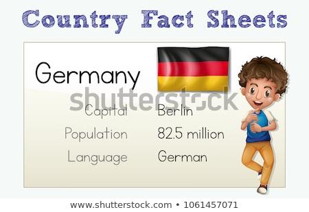 País fato Alemanha ilustração criança estudante Foto stock © colematt