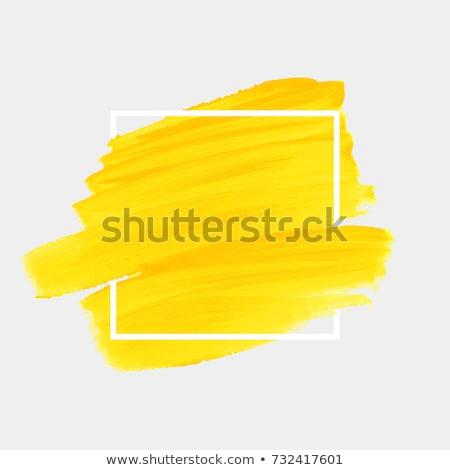 Shop design painted in yellow Stock photo © colematt