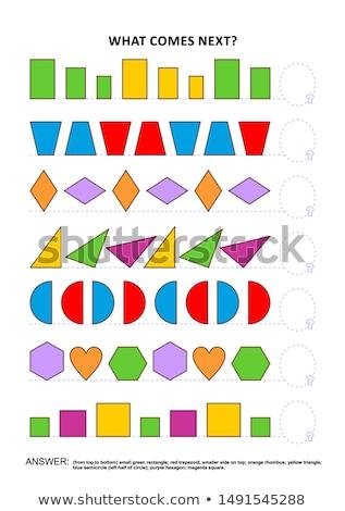 Jogo quebra-cabeça crianças adultos desenvolvimento Foto stock © Olena