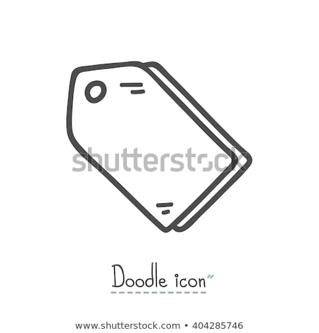 Stock photo: Price tag hand drawn outline doodle icon.