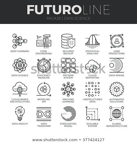 Programozás logo internet adat ikon terv Stock fotó © blaskorizov