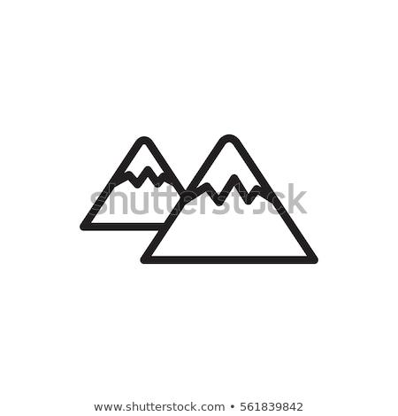 Neve montanha vetor ícone assinar símbolo Foto stock © blaskorizov