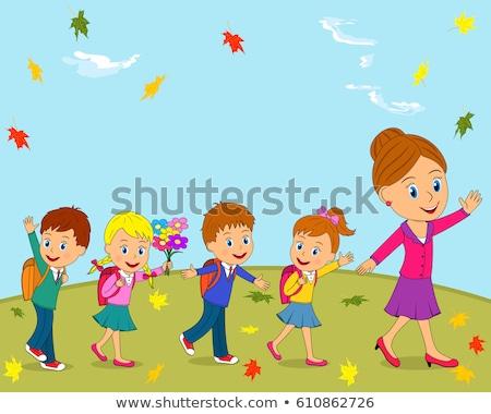 紙 4 子供 実例 子 背景 ストックフォト © colematt