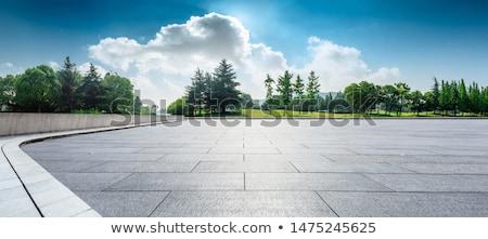 gebouwen · groene · landschap · hemel · architectuur · heuvel - stockfoto © colematt