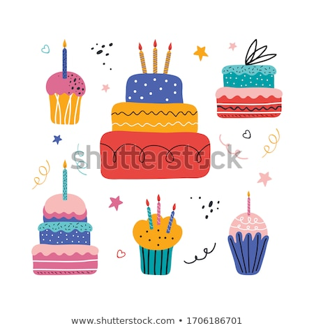 vector set of cake Stock photo © olllikeballoon
