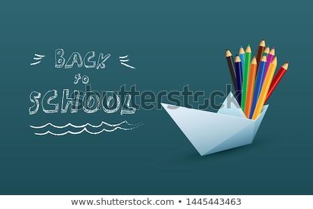 Color vintage back to school sale banner Stock photo © netkov1