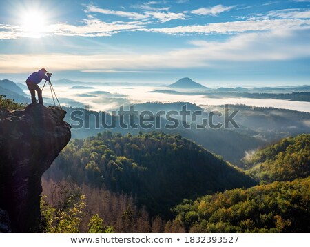 Photographer Takes Photo, Photojournalist Mountain Stock photo © robuart