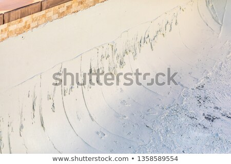 Freshly Applied Wet Pool Plaster During Build Stock photo © feverpitch