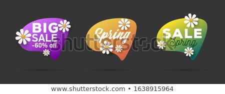 Shop Clearance Labels Isolated Vector, Springtime ストックフォト © robuart