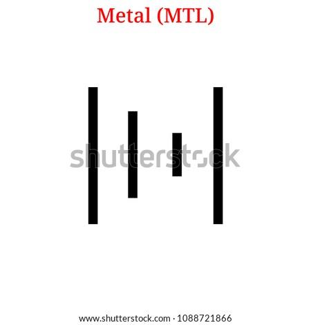 MTL - Metal. The Icon of Cryptocurrency or Market Emblem. Stok fotoğraf © tashatuvango