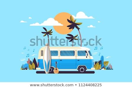 夏 休日 熱帯 休暇 ポスター グリーティングカード ストックフォト © ikopylov