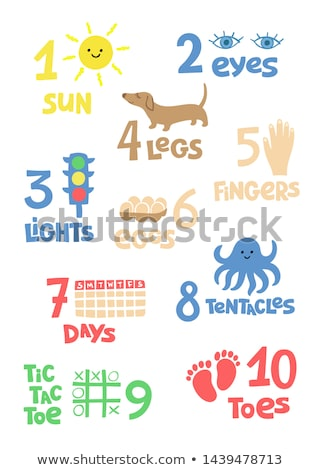 Math poster for counting with animals Stock photo © colematt