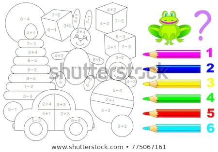 Números matemática modelo ilustração criança arte Foto stock © bluering