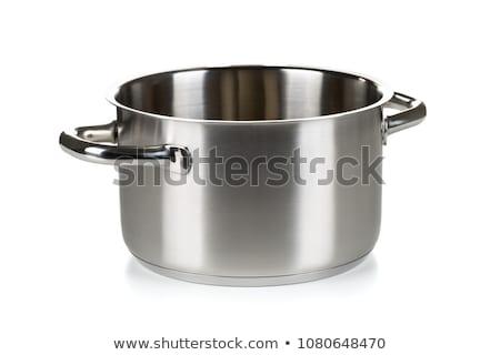 Open roestvrij staal witte voedsel Stockfoto © bborriss