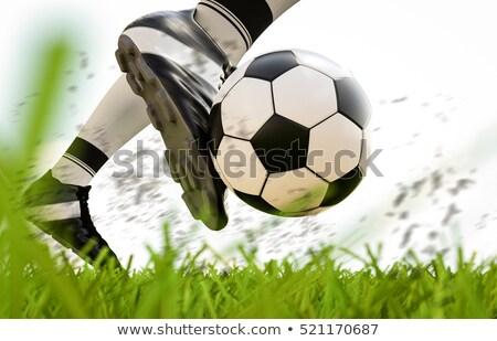 Közelkép cipő zöld gyep futball futball Stock fotó © matimix