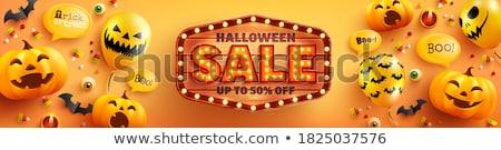 Halloween vendita fantasmi divertente cartoon mostri Foto d'archivio © Olena